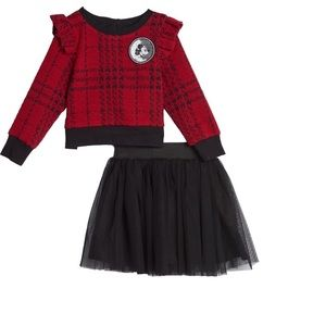 Pippa Julie x Disney Mickey skirt set black red